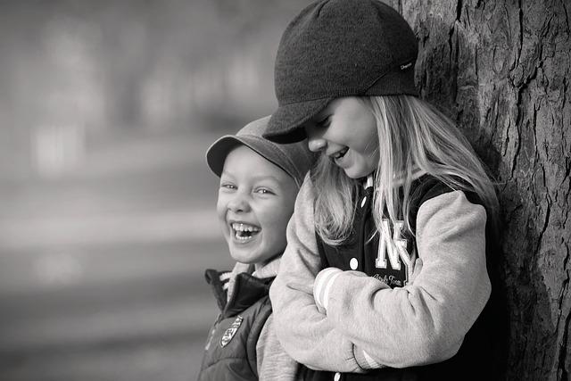 Children, Garden, Autumn, Play, Fun, Cheeks, Smile
