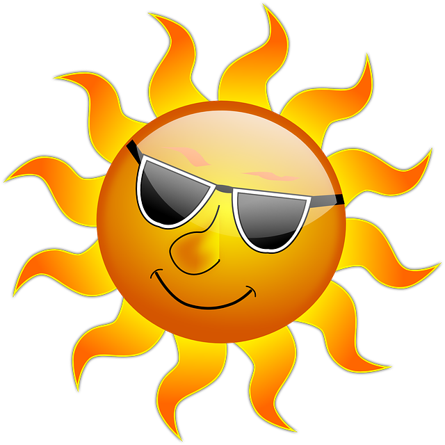Sun, Cool, Sunshine, Glossy, Smile, Summer, Heat