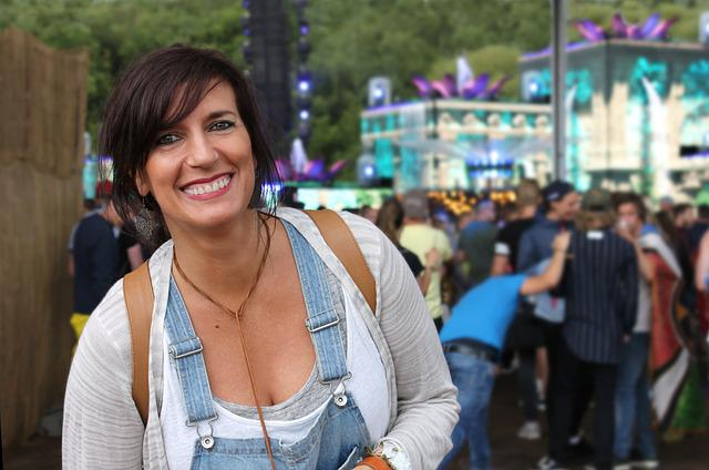 Woman, Festival, Smile, Laugh, Friendly, Party, Techno