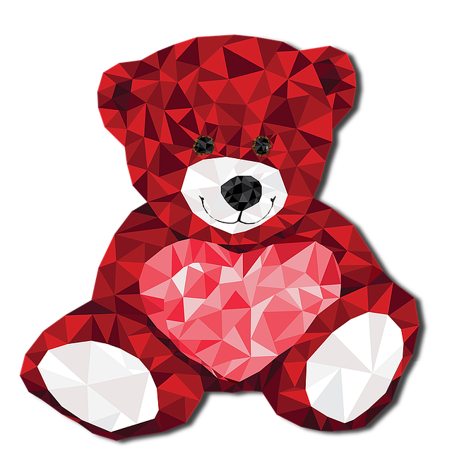 Valentine, Red, Heart, Bear, Smile, Occasion, Holiday