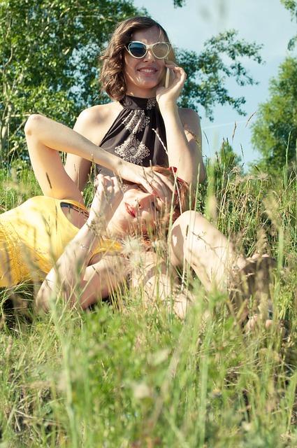 Girls, Summer, Sun, Smiles, Joy, Friends, Stroll