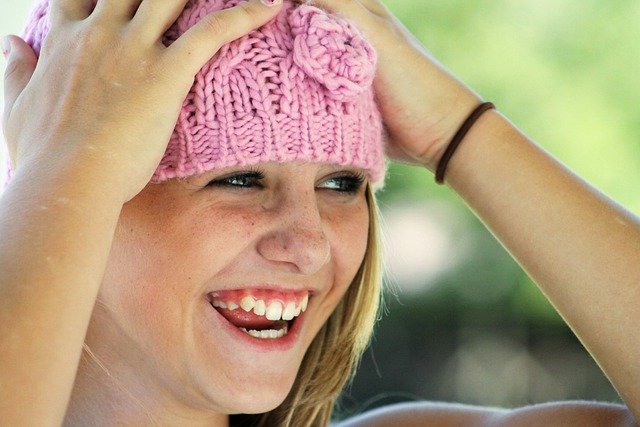 Girl, Hat, Happy, Laughing, Face, Cute, Smiling