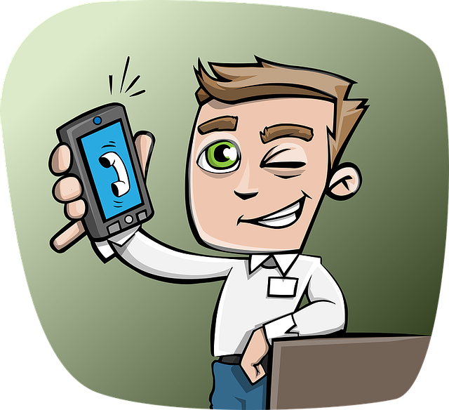Guy, Phone, Smartphone, Wink, Holding A Phone, Smiling