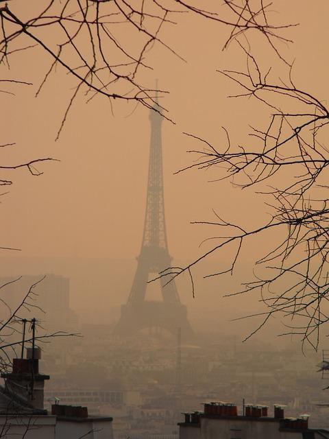 Paris, Smog, Eiffel Tower, Tourism, Tour