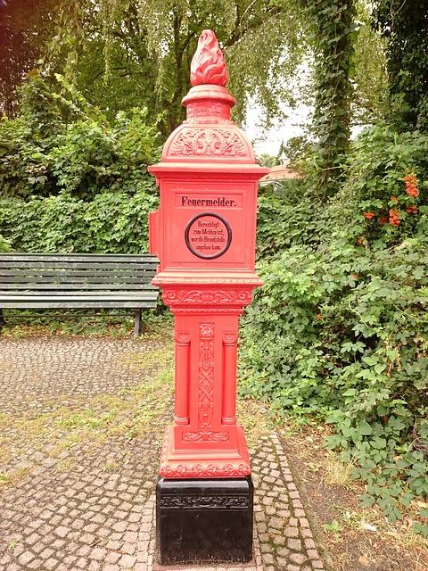 Fire Detector, Red, Smoke Detector, Fire, Berlin, Tegel
