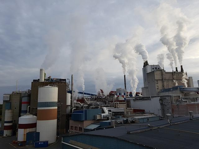 Factory, Industry, Industrial Landscape, Chimney, Smoke