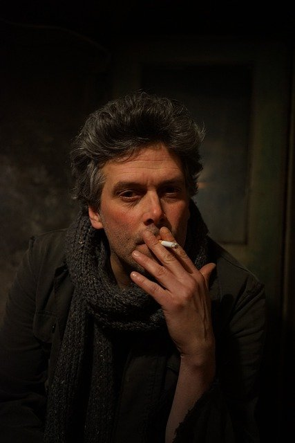 Portrait, Male, Smoking, Cigarette, Indoor, Man, Smoke