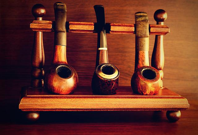 Pipes, Tobacco, Old Man, Rare, White, Smoke, Background