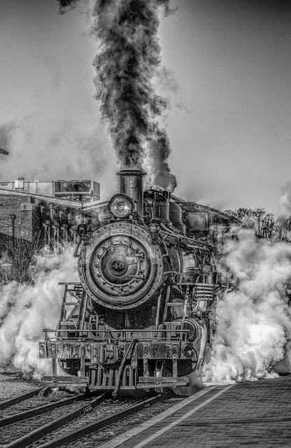 Steam Train, Steam Engine, Railroad, Smoke, Steam, Hdr