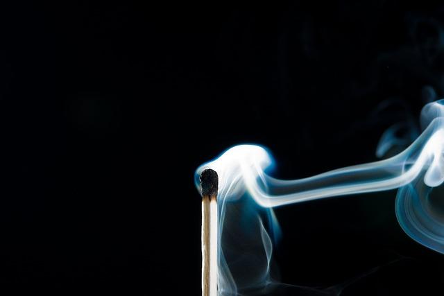 Smoke, Fire, Match, Matches, Burn, Close Up, Sticks