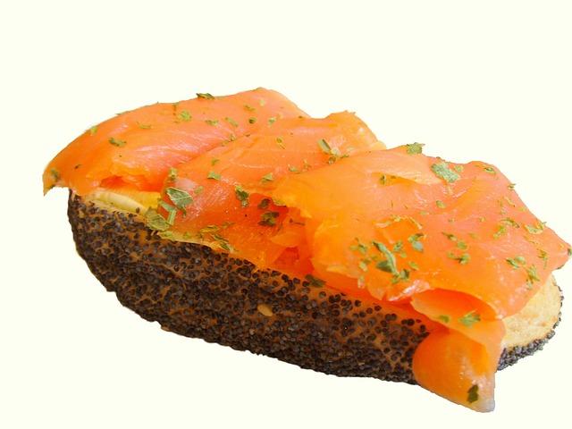 Salmon Sandwich, Smoked Salmon, Sandwich, Snack, Eat