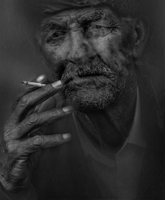 Smoker, Man, Smoking, Cigarette, Old, Elderly, Portrait