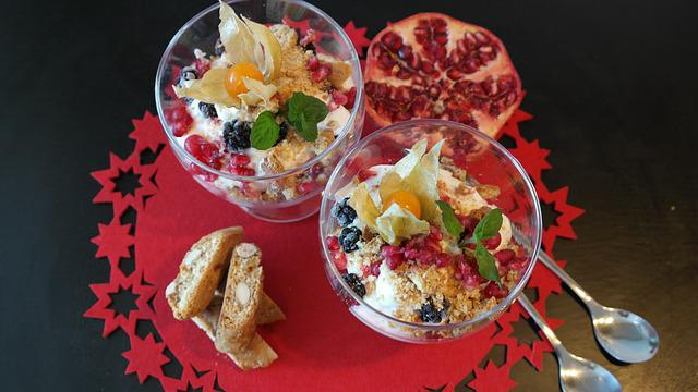 Dessert, Snack, Healthy, Delicious, Sweet, Cream, Fruit