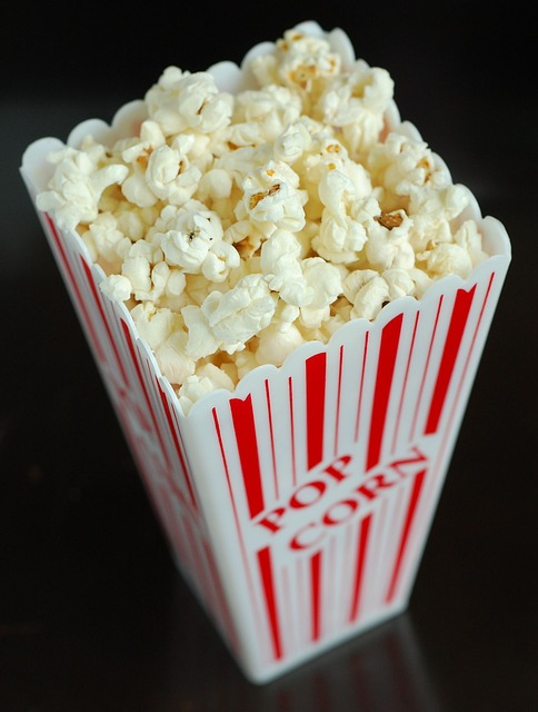 Food, Popcorn, Snack, Movie, Corn, Eat, White, Cinema