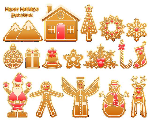 Gingerbread, Food, Snack, Seasonal, Christmas