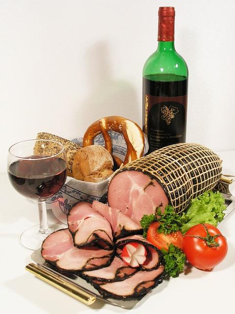 Smoked Ham, Ham, Vespers, Snack, Wurstplatte