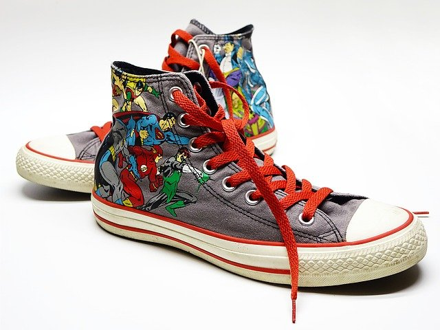 Shoe, Canvas, Sneakers, Casual, Converse, Super Hero
