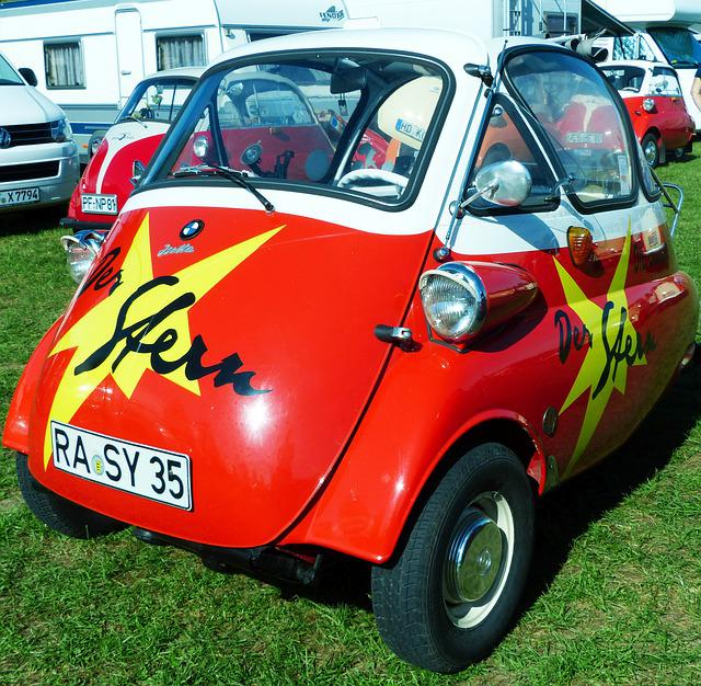 Bmw, Isetta, Presse Vehicle, Snogging Ball, Oldtimer