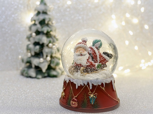 Snow Ball, Santa Claus, Christmas, Fun, Decoration