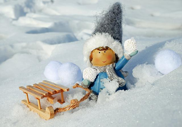 Girl, Figure, Snow Ball, Throw, Snow, Snowfall, Snowy
