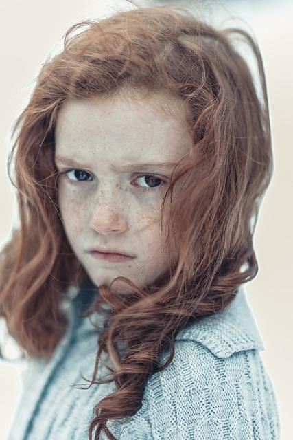 Child, Portrait, Girl, Freckles, Brown, Winter, Snow