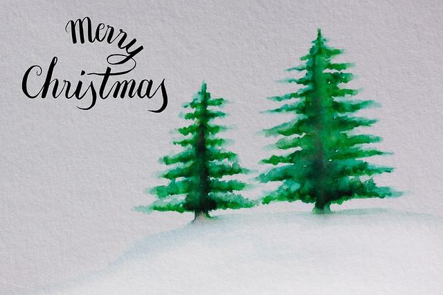 Christmas, Map, Christmas Tree, Green, Snow