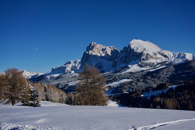 Sassolungo, Plattkofel, Snow, Winter, Mountain, Cold