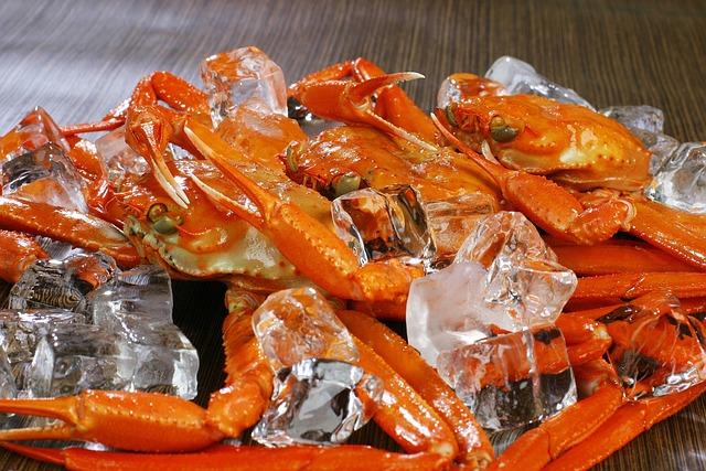 Snow Crab, Crab, Food, Ice