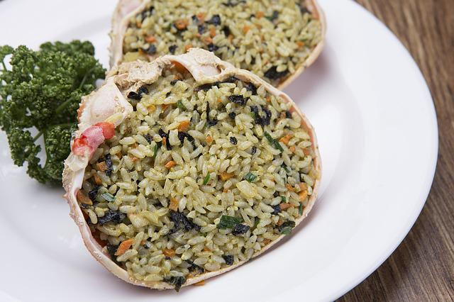 Crab Shell Fried Rice, Snow Crab, Self-restraint Up To