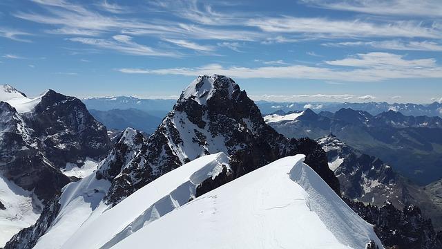 Piz Roseg, High Mountains, Bernina, Snow Dome, Alpine