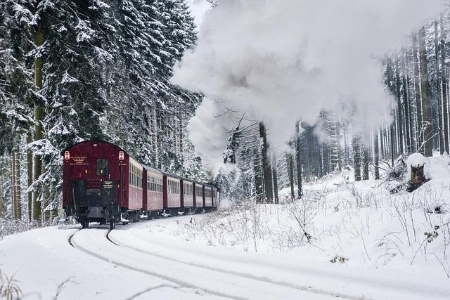 Harzer Schmalspuhrbahn, Wintry, Full Steam, Snow