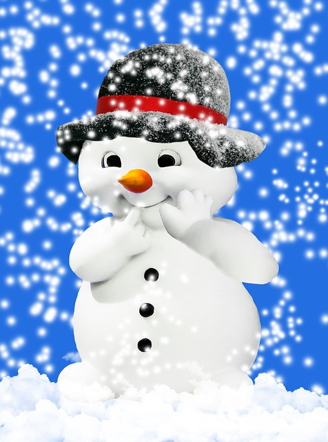 Winter, Snow, Wintry, Snow Man, Snowfall, Hat, Buttons