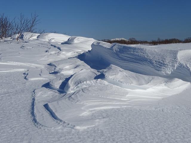 Snow, Winter, Sastrugi, Snowdrifts, Wind, Coldly, Ice