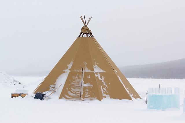 Tipis, Tent, Snow, Ice Cube, White, Landscape Winter
