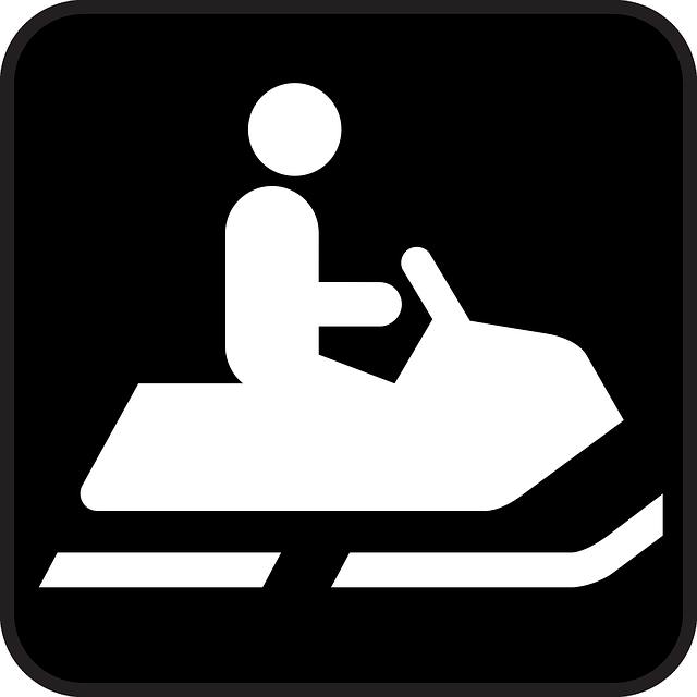 Snowmobile, Snow, Black, Symbol, Sign, Icon