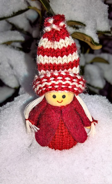 Winter, Christmas Time, Snow, Imp, Girl, Baby Doll