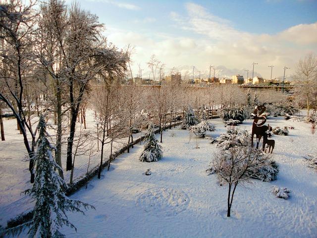 Snow, Isfahan, Iran