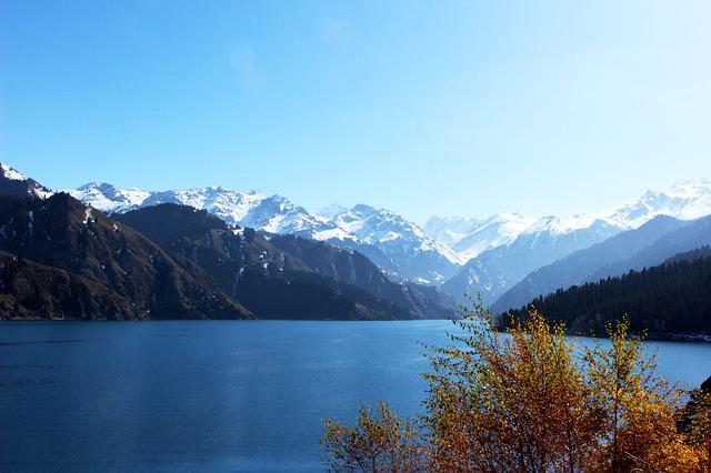 Tianchi, Lake, Snow, In Xinjiang