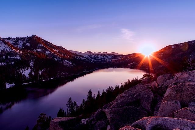 Mountains, Snow, Rocks, Boulders, Landscape, Lake