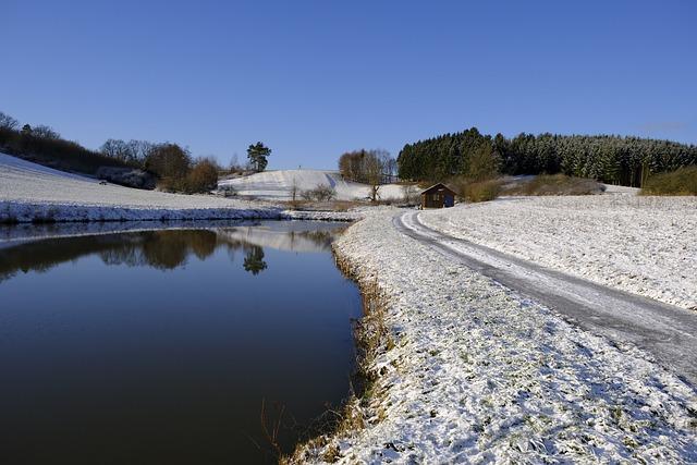 Winter, Snow, Lake, Ice, Frozen, Waters, Away