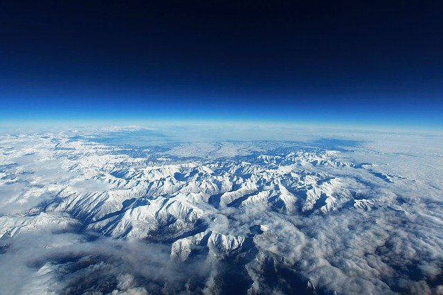 Pyrenees, Mountains, Snow, Zenith, Plane, Landscape