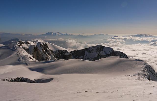 Landscape, Panoramic, Snow, Mountain, Nature