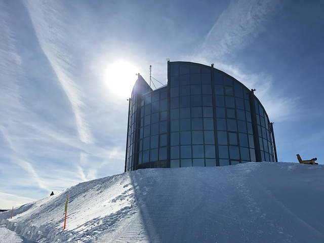 Mountain, Restaurant, Snow, Sky, Winter, Leysin