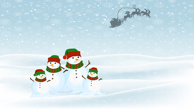 Santa Claus, Snowman, Snow, Christmas, Merry Christmas