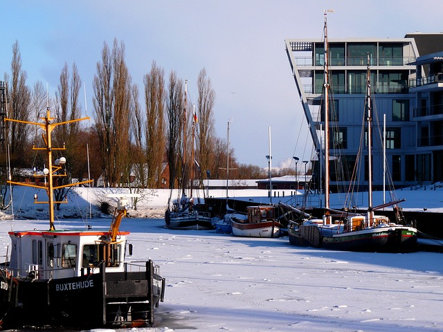 Stade, Hanseatic City, Winter, Ice, Snow, Mood, Nature