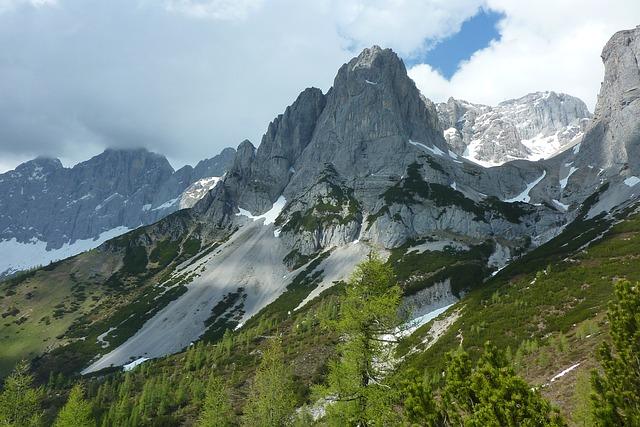 Mountain, Peak, Snow, Spring, High, Alpin, Alps, Clouds