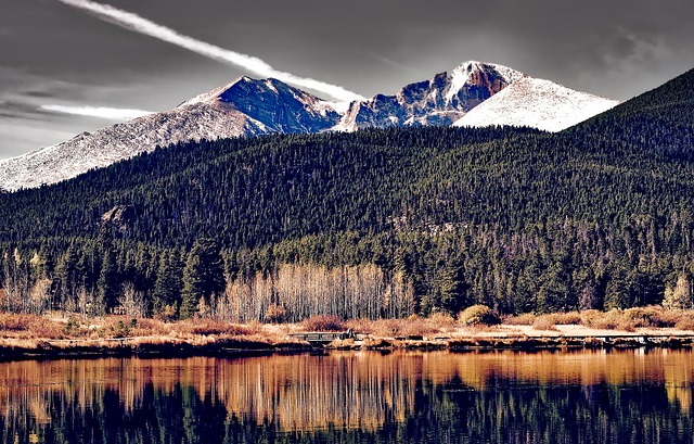 Colorado, Landscape, Mountains, Snow, Forest, Trees