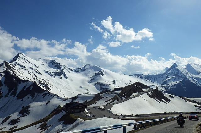 Mountains, Snow, Grossglockner Alpenstrasse, Austria