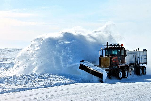 Plow, Snow, Ice, Road, Snow Plow, Plowing, Vehicle
