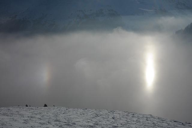Sun, Reflection, Fog, Sundog, Double Sun, Winter, Snow